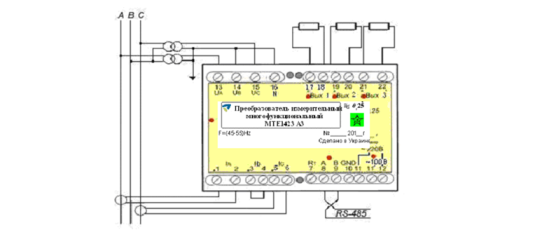 Схеми підключення РТЕ-14хх